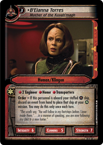 B'Elanna Torres (Mother of the Kuvah'magh)