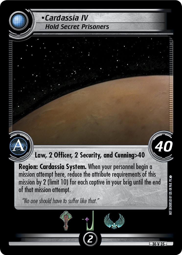 Cardassia IV (Hold Secret Prisoners)