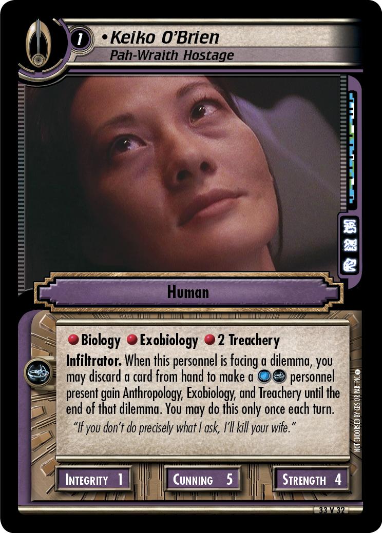 Keiko O'Brien (Pah-Wraith Hostage)