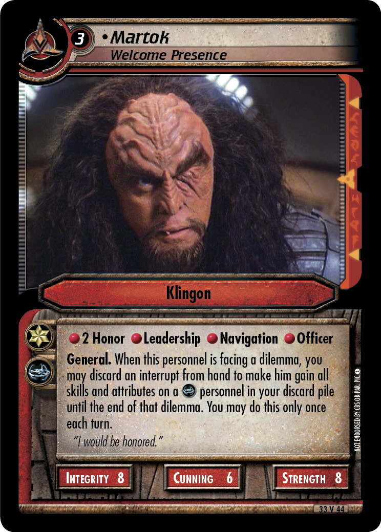 Martok (Welcome Presence)