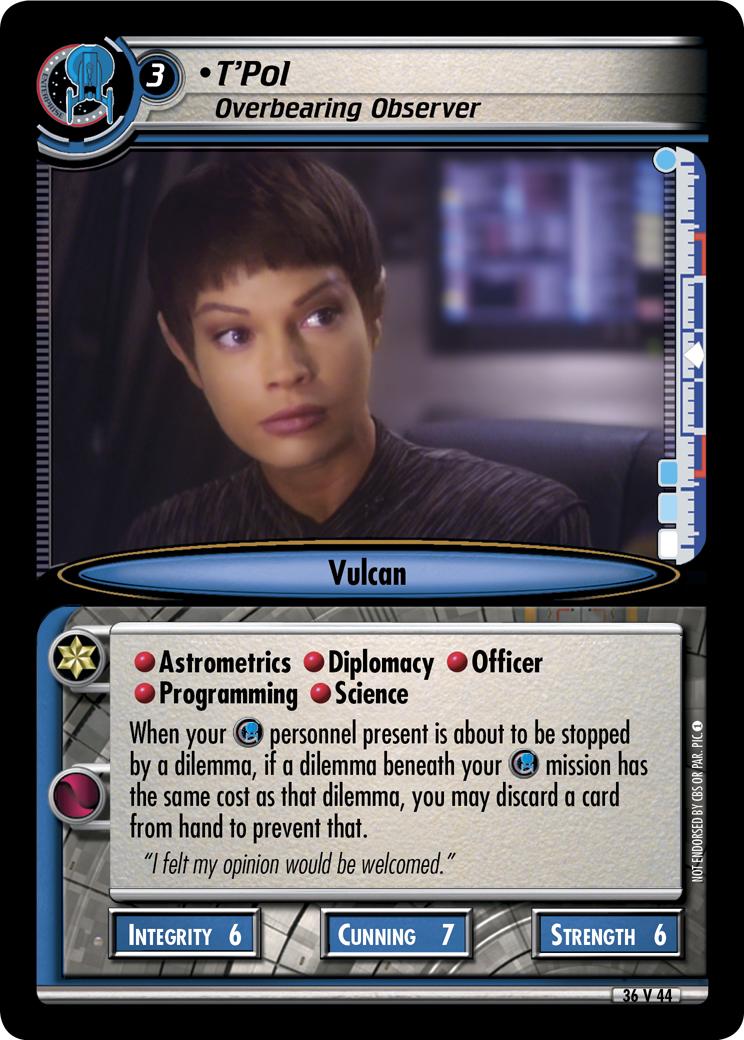 T'Pol, Overbearing Observer