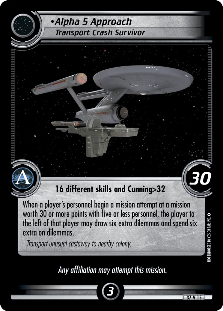 Alpha 5 Approach (Transport Crash Survivor)