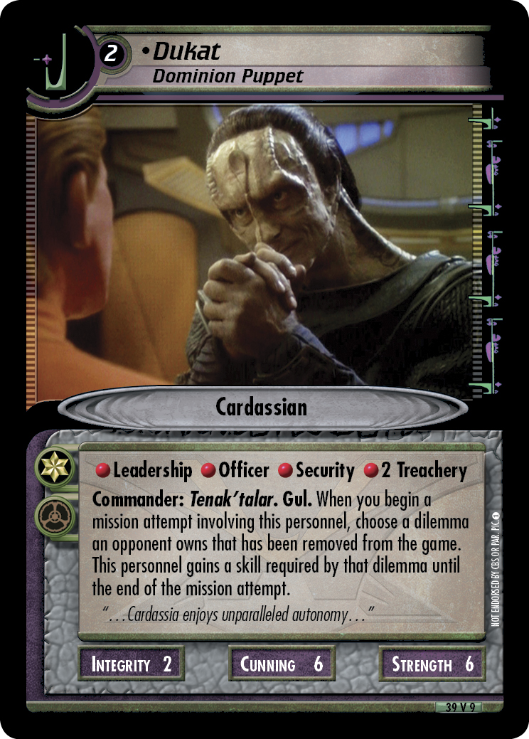 Dukat (Dominion Puppet)