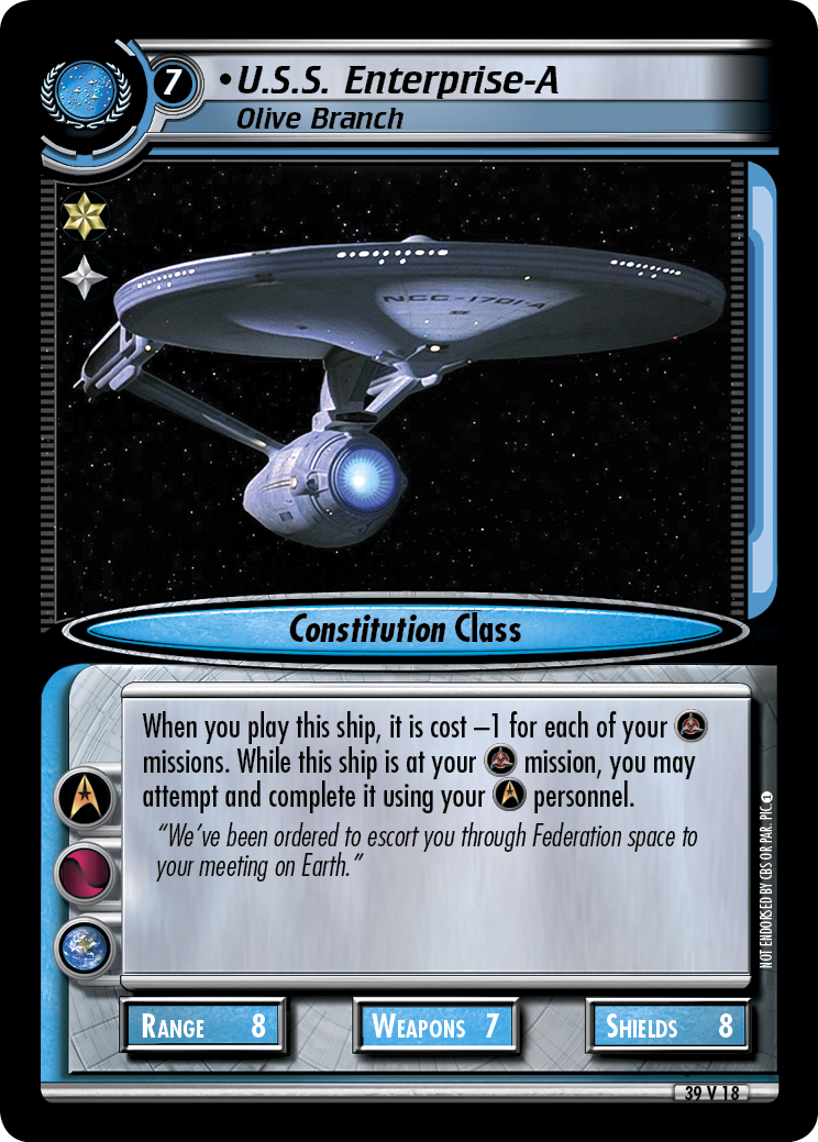U.S.S. Enterprise-A (Olive Branch)