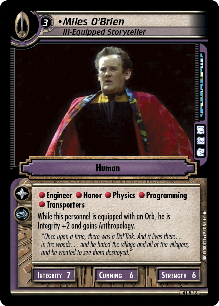 Miles O'Brien (Ill-Equipped Storyteller)