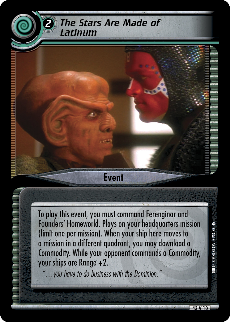 The Stars Are Made of Latinum