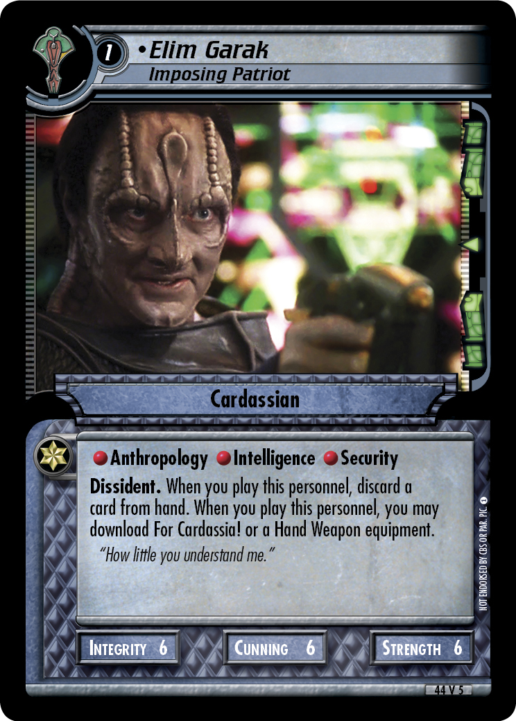 Elim Garak (Imposing Patriot)