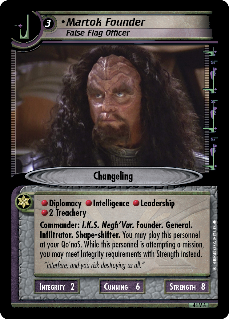 Martok Founder (False Flag Officer)