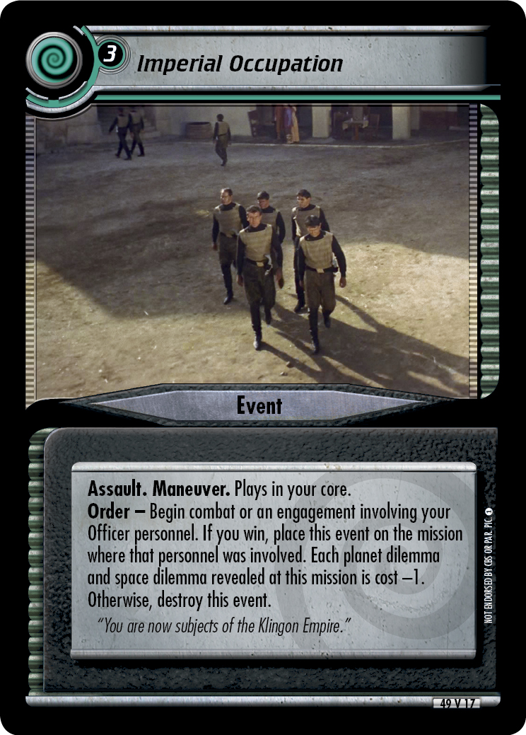 Imperial Occupation