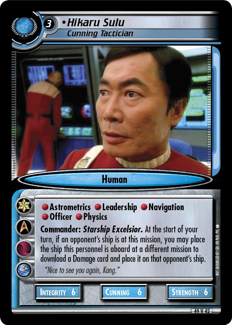 Hikaru Sulu (Cunning Tactician)