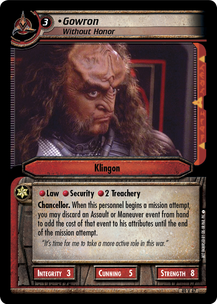 Gowron (Without Honor)