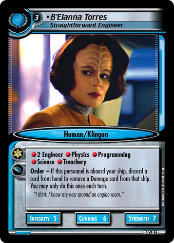 B'Elanna Torres (Straightforward Engineer)