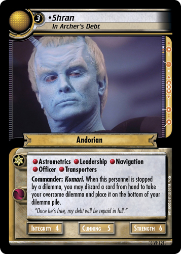 Shran (In Archer's Debt)