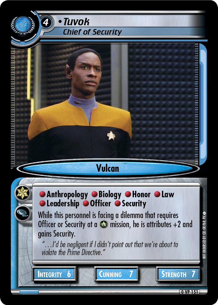 Tuvok (Chief of Security)
