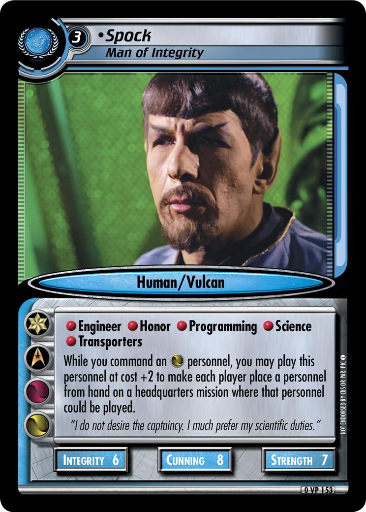 Spock (Man of Integrity)