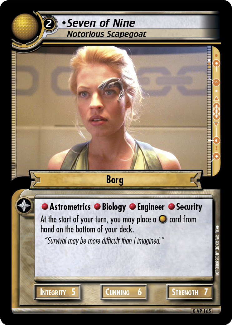 Seven of Nine (Notorious Scapegoat)