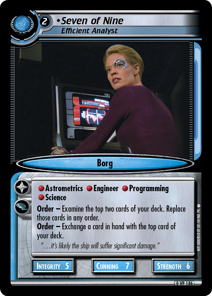 Seven of Nine (Efficient Analyst)