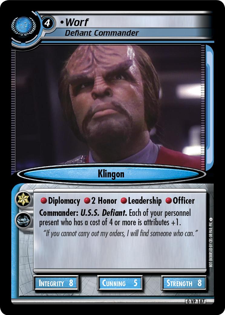 Worf (Defiant Commander)