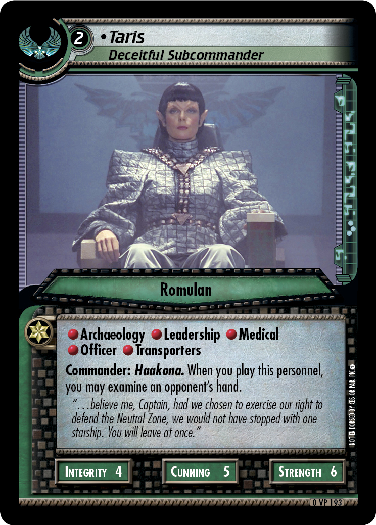 Taris (Deceitful Subcommander)