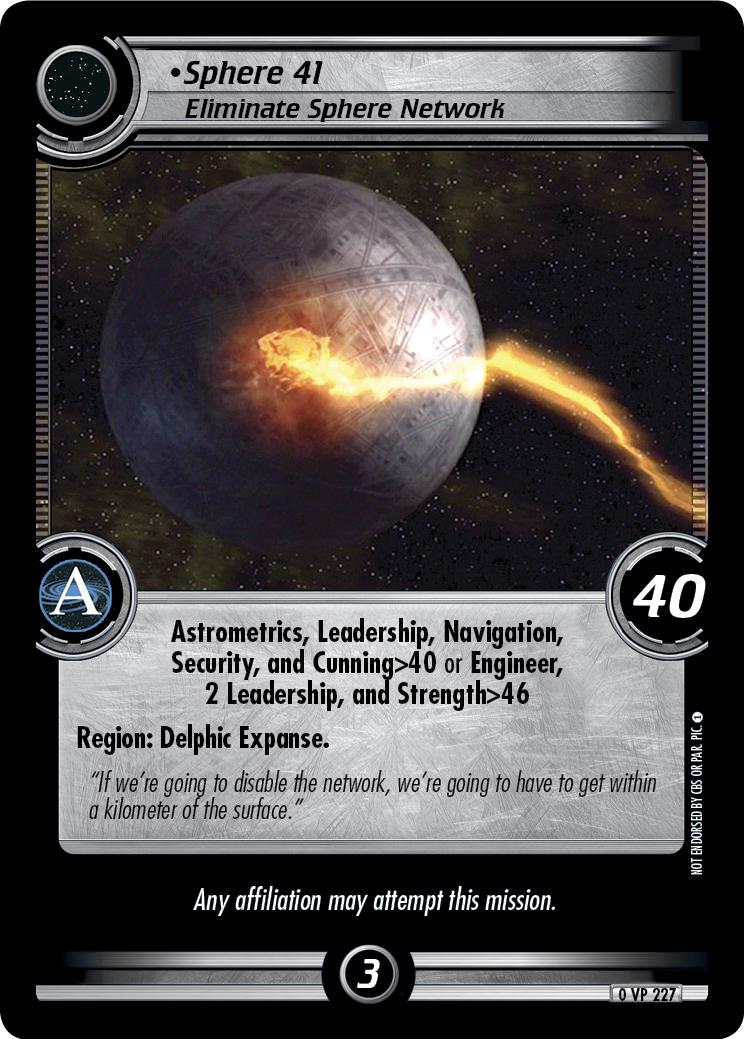 Sphere 41 (Eliminate Sphere Network)