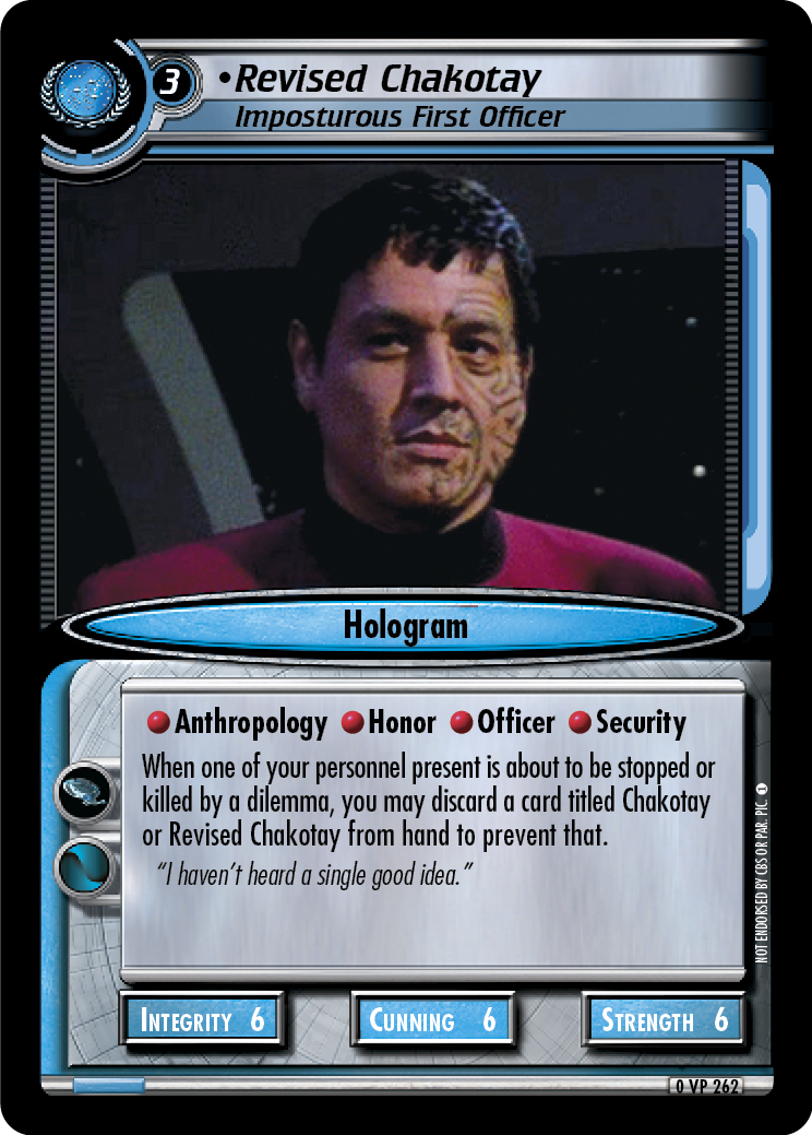Revised Chakotay (Imposturous First Officer)