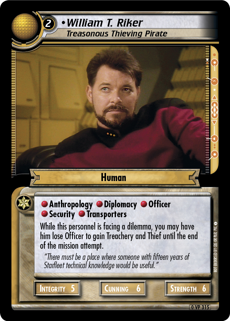 William T. Riker (Treasonous Thieving Pirate)