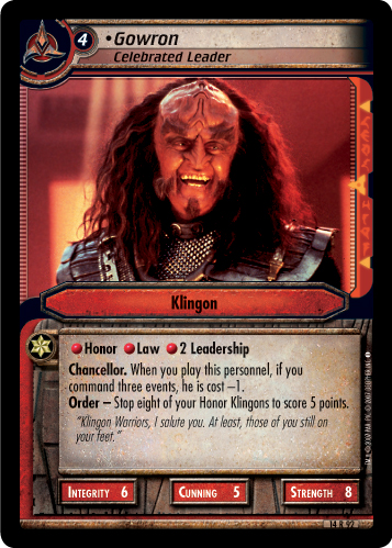 Gowron (Celebrated Leader)
