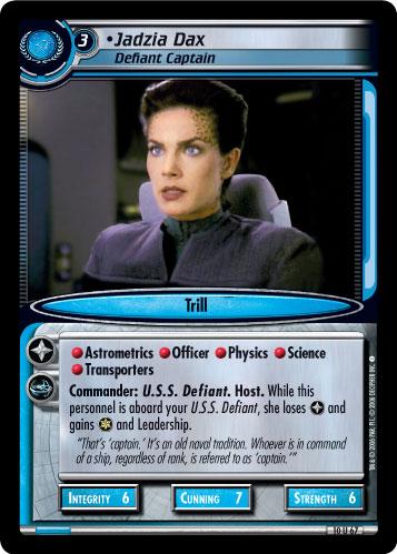 Jadzia Dax (Defiant Captain)