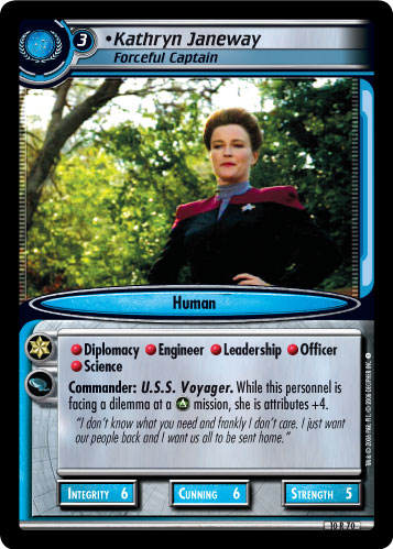 Kathryn Janeway (Forceful Captain)