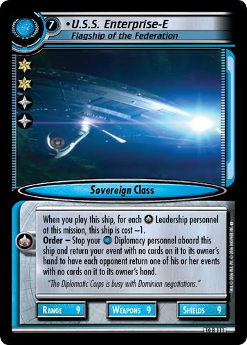 U.S.S. Enterprise-E, Flagship of the Federation