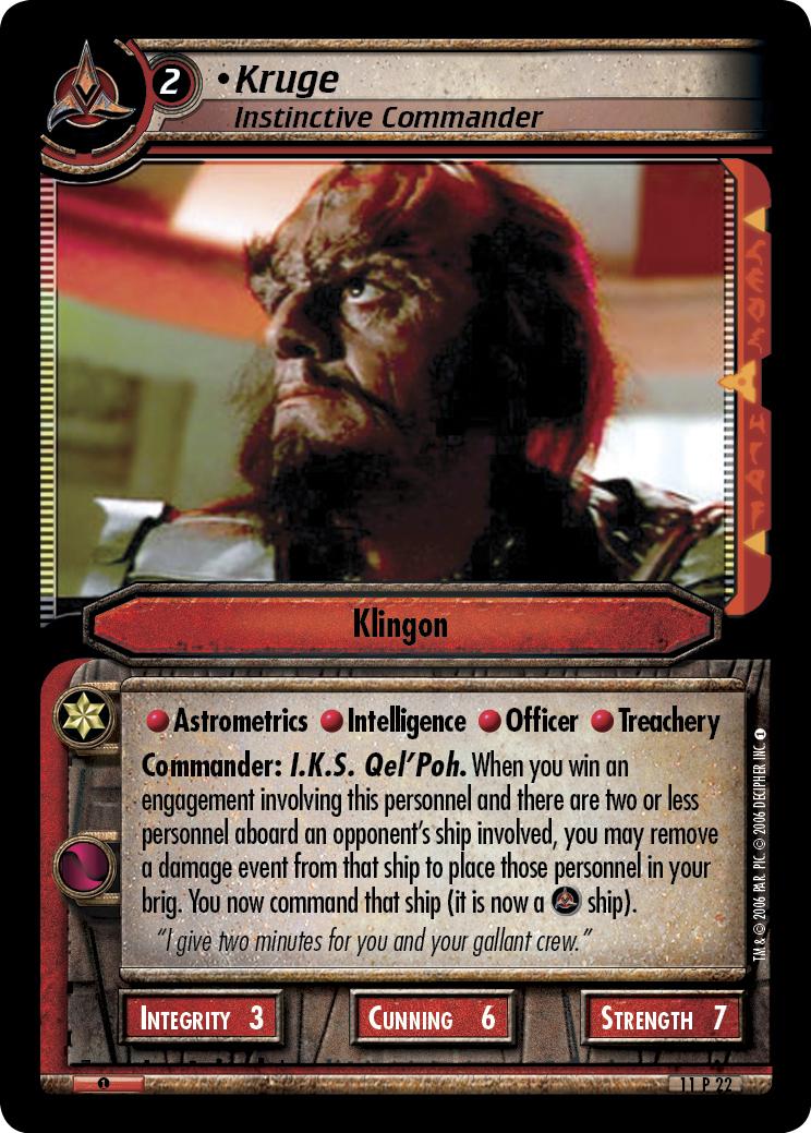 Kruge (Instinctive Commander)