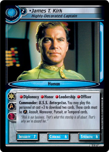 James T. Kirk (Highly-Decorated Captain)