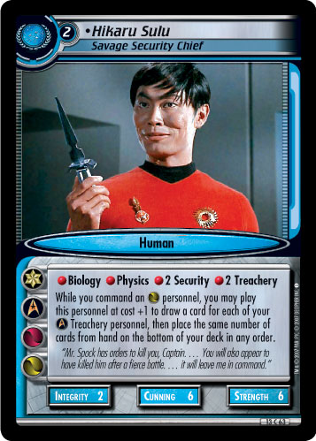 Hikaru Sulu (Savage Security Chief)