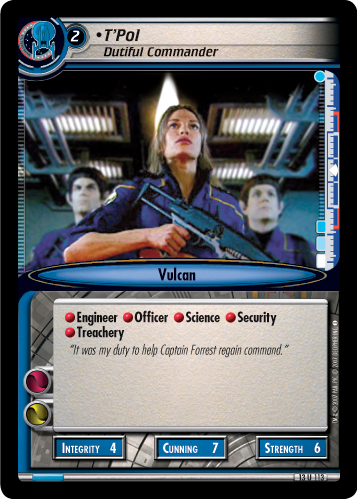 T'Pol (Dutiful Commander)
