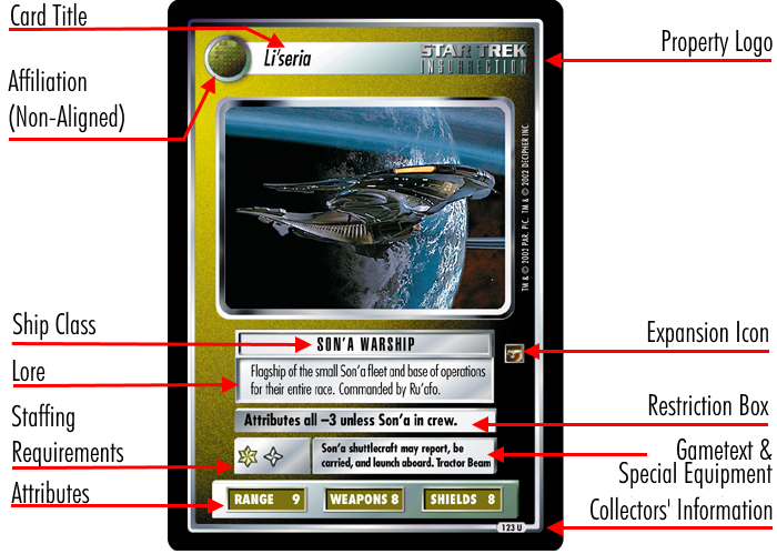 STAR TREK CCG RULES OF ACQUISITION RARE CARD ORION SYNDICATE BOMB